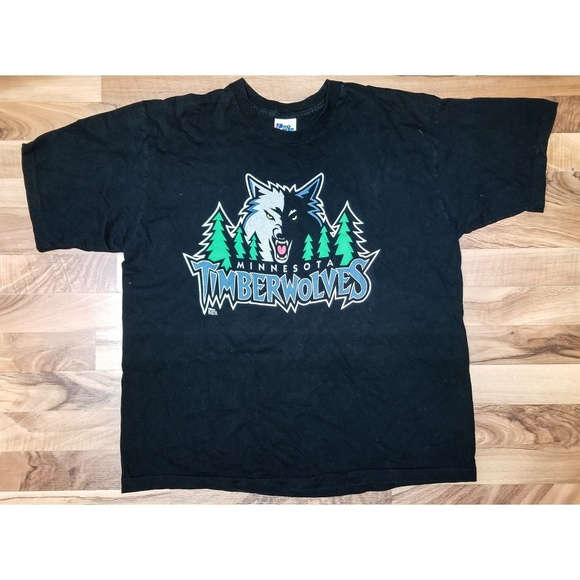 buy online f0cce 581ff Vintage Minnesota Timberwolves NBA T Shirt. WOW!